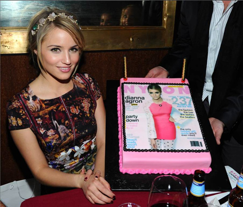 'Glee' Star Dianna Agron Feted At NYLON Soiree