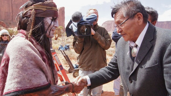 Johnny Depp Meets Navajo Leaders as Tonto