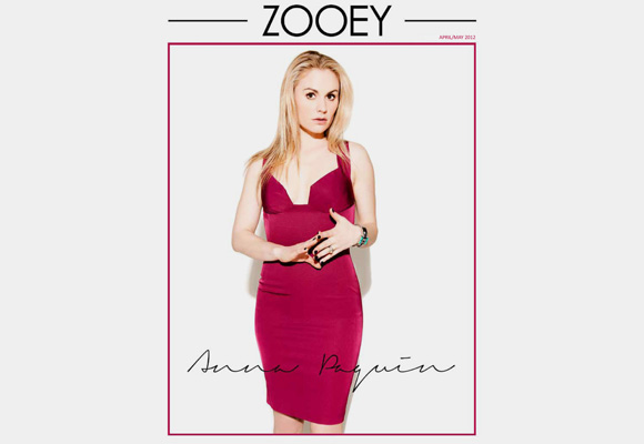 Super Chic Anna Paquin in Zooey Magazine