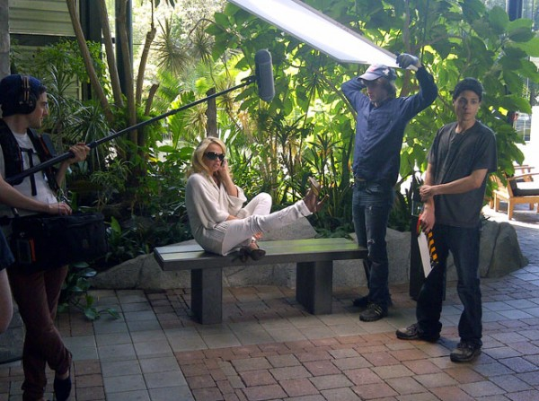 Erin Cebula&#8217;s &#8216;Jackhammer&#8217; Set Visit With Pam Anderson