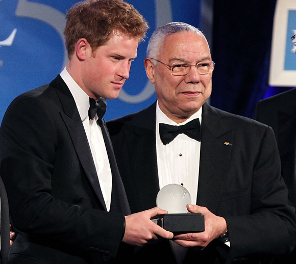 Prince Harry Accepts Award in Washington