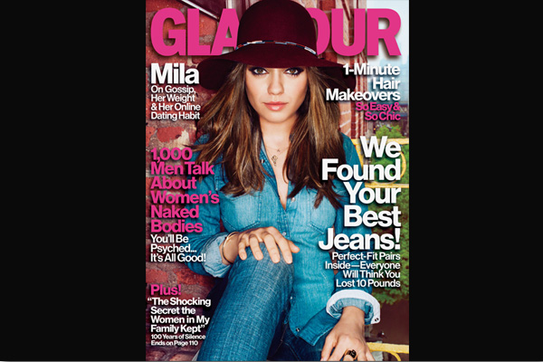 Glamour is Smitten with Mila Kunis