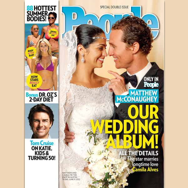 First Look: Matthew and Camila McConaughey's Wedding Pic
