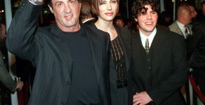 "Sylvester Stallone is pictured with Jennifer Flavin and his son, Sage, at the premiere of ""Daylight"" in 1996. Photo: CPImages"