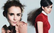 Lily Collins in Glamour Magazine