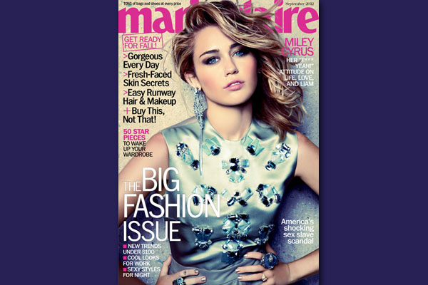 Miley Cyrus Shines on Marie Claire