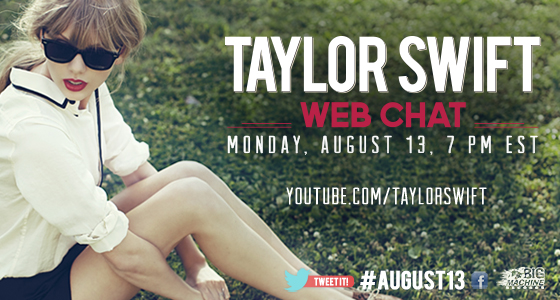 Live Web Chat With Taylor Swift