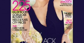 Milla Jovovich welcomes fall in a Calvin Klein dress on the October cover of FLARE. Photo: Courtesy of FLARE