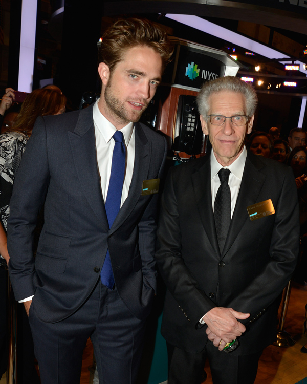 Pattinson and Cronenberg Ring NYSE Opening Bell