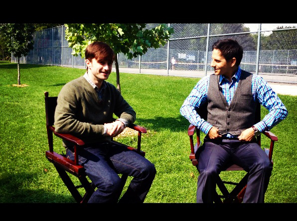 Rick On His Walk In The Park With Daniel Radcliffe
