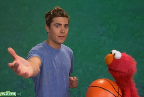 Zac Efron Teaches Elmo Patience