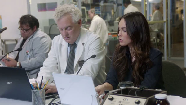 Behind The Scenes: Megan Fox Speaks to Dolphins