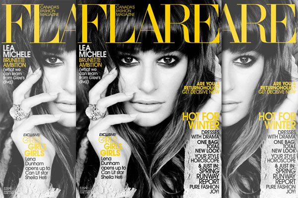 Lea Michele: Flare Magazine's January Cover Girl