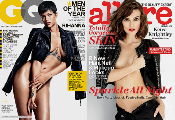 Rihanna And Keira Knightley Go Topless