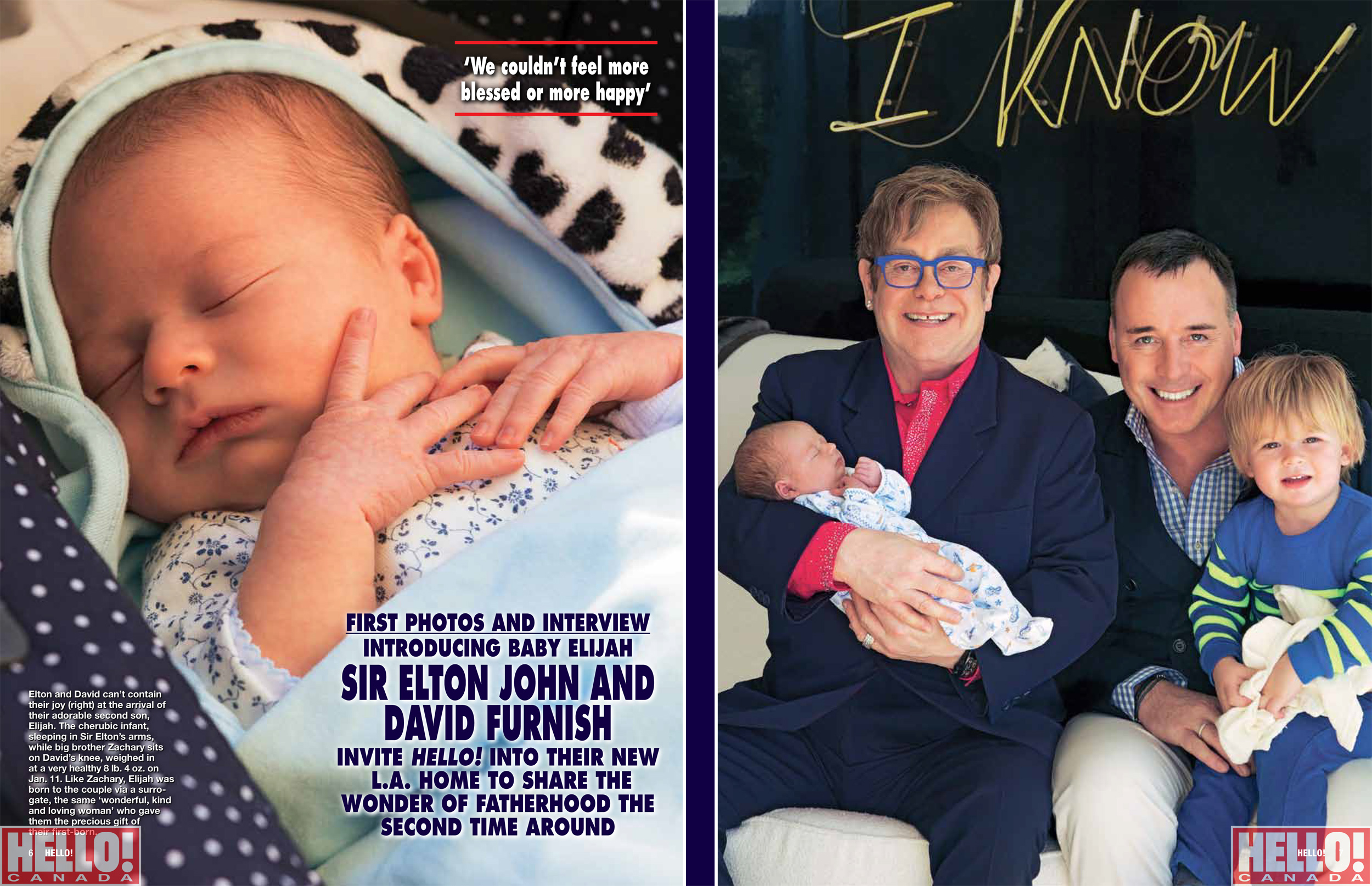 Sir Elton John And David Furnish Introduce Baby Elijah