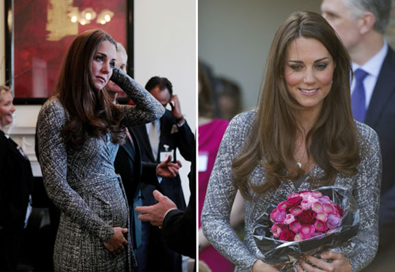 Kate Middleton Takes Her Bump To Work
