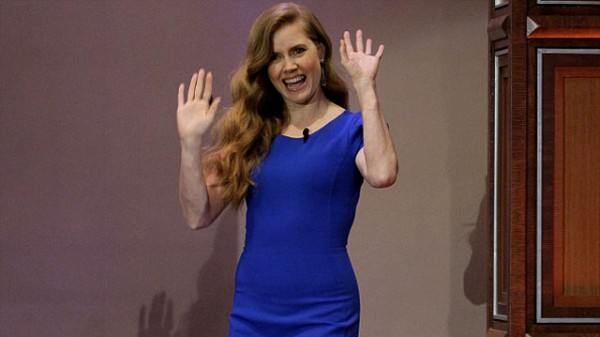 Amy Adams Performs Superman Song on 'Leno'