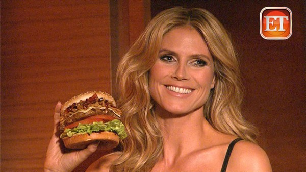 Heidi Klum Re-Creates a Sexy Classic in Burger Ad