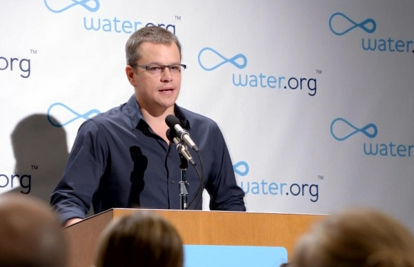 Matt Damon Goes On 'Toilet' Strike For Clean Water
