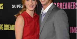 "Heather Morris and Taylor Hubbell attend the ""Spring Breakers"" premiere at ArcLight Cinemas on March 14, 2013 in Hollywood. Photo: Jason Merritt/Getty"