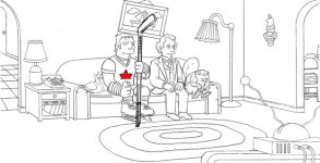 Ray's winning couch gag in storyboard form. Photo: Courtesy of The Simpsons