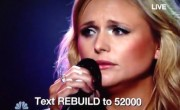 Miranda Breaks Down During Benefit Performance
