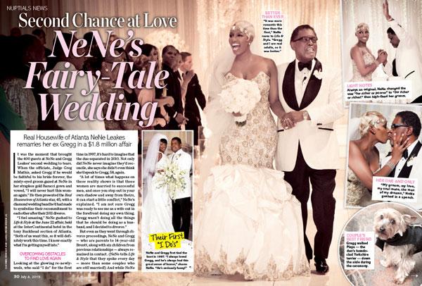 first look at nene leakes� lavish wedding etcanadacom