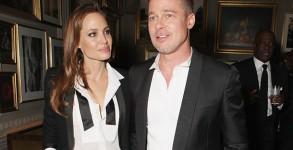 Angelina Jolie and Brad Pitt attend Entertainment One's BAFTA after party. Photo credit: David M. Benett/Getty