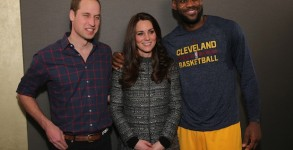 The Duke And Duchess Of Cambridge Attend Cleveland Cavaliers v Brooklyn Nets