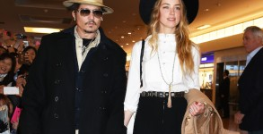Johnny Depp And Amber Heard Arrive In Tokyo