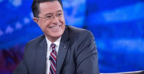 Obama Tapes an Interview for The Colbert Report with Stephen Colb