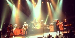 The band Eagles of Death Metal pictured on stage at Bataclan concert hall ahead of the attack.  Photo: Twitter