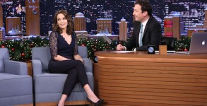 THE TONIGHT SHOW STARRING JIMMY FALLON -- Episode 0387 -- Pictured: (l-r) Actress Tina Fey during an interview with host Jimmy Fallon on December 14, 2015 -- (Photo by: )