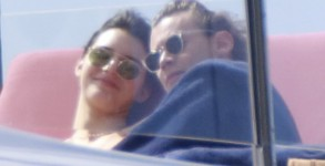 Kendall Jenner and Harry Styles are seen in St Barts kissing on a boat