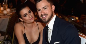 CENTURY CITY, CA - FEBRUARY 07:  Actress Lea Michele (L) and Matthew Paetz attend the 67th Annual Directors Guild Of America Awards at the Hyatt Regency Century Plaza on February 7, 2015 in Century City, California.  (Photo by for DGA)