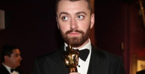 HOLLYWOOD, CA - FEBRUARY 28:  Singer Sam Smith, winner of Best Original Song for 'Writing's On the Wall,' attends the 88th Annual Academy Awards at Dolby Theatre on February 28, 2016 in Hollywood, California.  (Photo by )