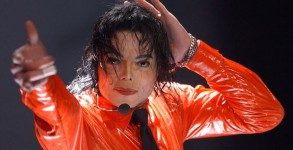 "404248 10: Musician Michael Jackson performs at the taping of ""American Bandstands 50th...A Celebration"" television special honoring the music show April 20, 2002 in Pasadena, CA. (Photo by"