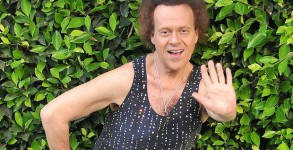 May 16, 2013; Beverly Hills, CA, USA; Fitness Guru and funny man Richard Simmons takes a few minutes from his busy schedule to pose for a few frames while out in Beverly Hills, the actor wore a dark tank tee, patterned black and white stockings and white sneakers.. Mandatory Credit: Photo by CARV/AKM-GSI/KEYSTONE Press (©) Copyright 2013 by AKM-GSI