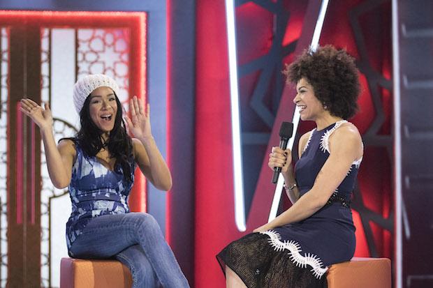 Fake Evictee Loveita talks with Host Arisa Cox
