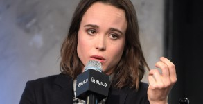 "NEW YORK, NY - MARCH 09:  Ellen Page attends the AOL Build Speakers Series - Ellen Page And Ian Daniel, ""Gaycation"" at AOL Studios In New York on March 9, 2016 in New York City.  (Photo by )"