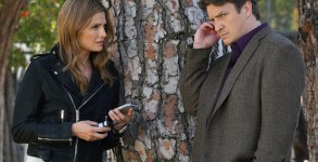 "CASTLE - ""Crossfire"" - With their best lead in hand, Castle and Beckett are ready to take on LokSat. But an unforeseen twist puts their case - and their lives - in jeopardy, on the season finale of ""Castle,"" MONDAY, MAY 16 (10:00-11:00 p.m. EDT) on the ABC Television Network. ""Crossfire"" ( STANA KATIC, NATHAN FILLION"