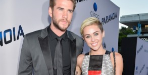 "LOS ANGELES, CA - AUGUST 08:  Actor Liam Hemsworth and singer Miley Cyrus attend the premiere of Relativity Media's ""Paranoia"" at DGA Theater on August 8, 2013 in Los Angeles, California.  (Photo by Frazer Harrison/Getty Images for Relativity Media)"
