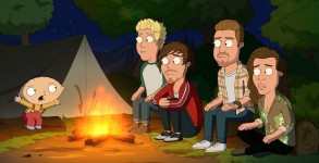 "FAMILY GUY: One Direction guest-voices as themselves in the ""Run, Chris, Run"" episode of FAMILY GUY airing Sunday, May 15 (9:00-9:30 PM ET/PT) on FOX.  FAMILY GUY ™ and © 2016 TCFFC ALL RIGHTS RESERVED.  CR: FOX"