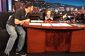 Jimmy Kimmel's Daughter Takes Over On 'Take Your Kids To Work' Day