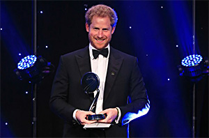 Prince Harry Suits Up For The BT Sport Industry Awards In London
